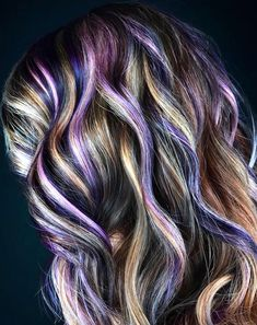 🍇🥜Peanut Butter and Jelly Hair: Beautiful purples, burgundies, and golds hairstyle inspired by our favorite childhood snack Curly Hair With Bangs, Short Curly Hair, Hairstyles With Bangs, Curly Hair Styles, Men's Hairstyle, Formal Hairstyles, Medium Curly, Winter Hairstyles, Wedding Hairstyles
