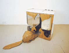 One of my favourite sculptures of all time - Bill Woodrow's Twin-tub beaver Sculptures, Objects, Geek Stuff, Carving, Deconstruction, Joinery, Tub, Inspirational, Artists