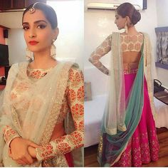 New indian bridal dupatta setting outfit ideas Indian Attire, Indian Wear, Saris, Indian Dresses, Indian Outfits, Anarkali, Churidar, Lehenga Dupatta, Black Lehenga