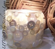 Cute As A Button ~ Candle Holder