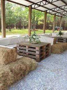 country farm tented wedding reception ideas