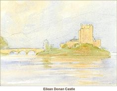 Anthony Forster Art Classes: watercolour tuition - Eilean Donan Castle Application-1