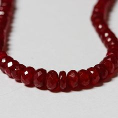$11.90  $$$$$$$ AAA Ruby Faceted Rondelle Beads 2.5mm - 4.3mm  - 9 or 12 beads