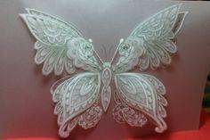 Butterfly Card. Tutorial in progress.