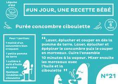 #recette #bébé du jour #21 : Purée concombre et ciboulette