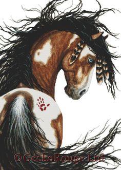 Cross stitch kit by AmyLyn Bihrle Majestic Horse by GeckoRouge