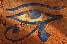 Eye of Horus:  An ancient Egyptian symbol of protection, royal power and good health. The eye is personified in the goddess Wadjet. It is also known as ''The Eye of Ra''