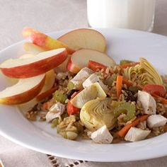 Chicken, Brown Rice, and Veggie Skillet - diabetes meal plan
