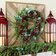 Deck the halls with faux greenery and berry picks this season to add a natural element to holiday decor!