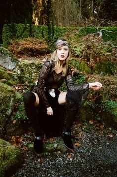 SOLESTRUCK HOLIDAY 2013 LOOKBOOK photography: amanda leigh smith   ∆   model: skye sengelmann  styling: maya dahlgreen   ∆   h+m: clarity mettler  clothing: saint lucifer's vintage   ∆   turban: reif   ∆   jewelry: polaris jewelry   ∆   bags: seaecho Hippie Goth, Goth Chic, Black Brick, Modern Witch, Amanda, Hair Makeup, Hipster, Punk, Turban