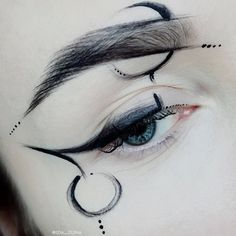 I think I'd be cooler if people wore make up like this more Eyeliner, , Fx Makeup, Cosplay Makeup, Costume Makeup, Makeup Inspo, Makeup Inspiration, Makeup Tips, Beauty Makeup, Makeup Morphe, Anime Makeup