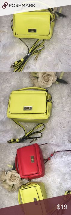 Yellow crossbody mini purse Small cute yellow purse•perfect for a night on the town•traveling out of town•stylish for any age•card holding pockets on the inside•removable straps•NEW•smoke free/pet free home Bags