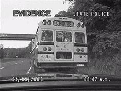 Super Troopers movie gif school bus , children beat up officer .