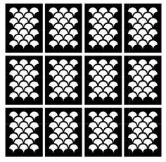 Vinyl Nail Stencils - Scales (12) - Eat.Sleep.Polish.  - 1