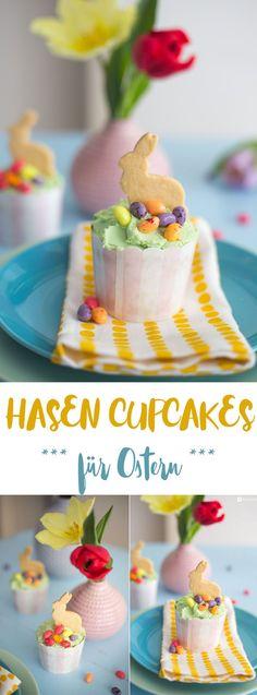Hasen Cupcakes für Ostern - leckere Rezeptidee - Kreativfieber.de #rezepte #ostern #backen