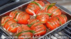 Hasselback tomatoes - Mac's Barbecue Pit