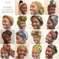 I'm long overdye for another head wrap tutorial so here we go! In this video I'll show you how to do 5 different head wrap styles using Ankara head wraps. Pelo Natural, Natural Hair Tips, Natural Hair Styles, Head Scarf Tying, Head Wrap Scarf, Tie Head Scarves, Bad Hair Day, Hair Journey, Scarf Hairstyles