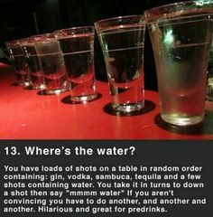 alcoholic party drinks Where's the water. Alcohol Games, Alcohol Drink Recipes, Snacks Für Party, Party Drinks, Drinking Games For Parties, Adult Drinking Games, Beer Drinking Games, Beer Games, College Drinking Games