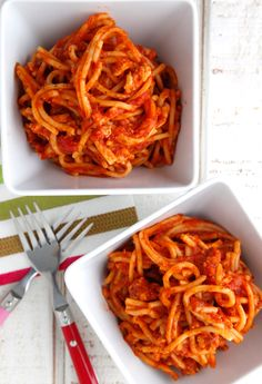 Crock Pot Spaghetti on Weelicious