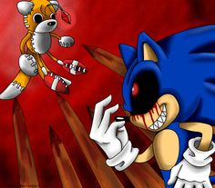 Exe and Tails Doll Sonic Sega Game, Tails Doll, Creepypasta Proxy, Sonic Fan Characters, Sonic And Shadow, My Little Pony Drawing, Sonic Fan Art, Prehistoric Animals, Horror