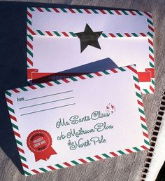 Letter to Santa - Holiday Stationery for Kids - individual card and seal. $4.95, via Etsy.