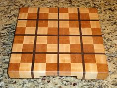 A Plaid Cutting Board