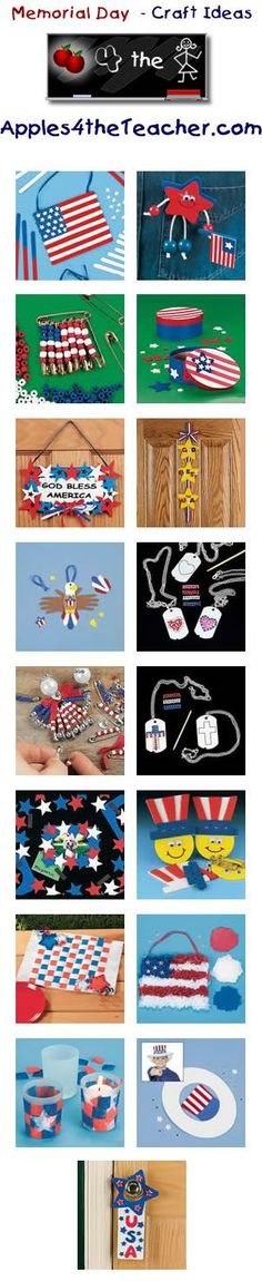 Fun Memorial Day crafts for kids - Memorial Day craft ideas for children.