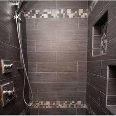Emser Tile Strands x Horizontal Cove Base Tile Trim in Twilight Lucerne, Bathroom Flooring, Kitchen Flooring, Basement Bathroom, Gray Shower Tile, Bathroom Shower Tiles, Stone Shower, Shower Walls, Small Bathroom