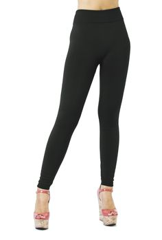 D&K High Waist Fleece and Thermal Compression Full Leggings at Amazon Women's Clothing store: