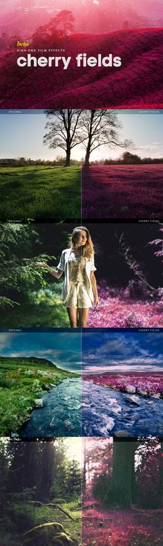 Buy Cherry Fields Action by betoalanis on GraphicRiver. Cherry Field is an action to give your images a variation of the infrared photographic technique, basically it change. Best Photoshop Actions, Effects Photoshop, Photoshop Photos, Photoshop Elements, Adobe Photoshop, Vintage Photography, Photography Poses, Nature Photography, Photoshop Photography