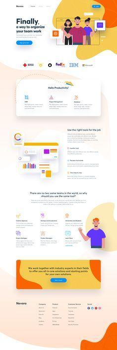 Cool Web Design, Design Ui, Web Design Mobile, Web Design Trends, Flat Design, Homepage Design, Graphic Design, Sites Layout, Web Layout