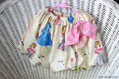 Make adorable bubble skirts for your girls with this free bubble skirt sewing pattern! It's easy and all sizes are included!