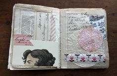 besottment by paper relics: Sewn Journaling Pages Part II