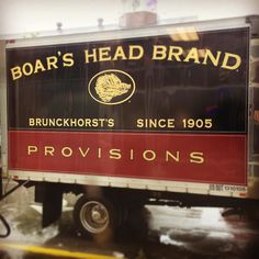 Time to get the weekly delivery. #theartisanrocks #boarshead