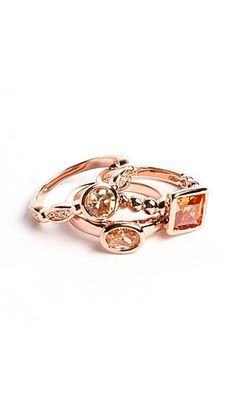 Blushing Blossom Ring Stack <3
