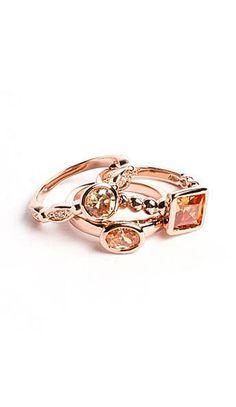 Blushing Blossom Ring Stack <3