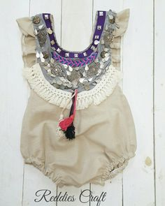 handmade baby romper by Reddies Craft