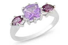 Ice.com 1 1/2 carat pink amethyst & rhodolite 14K white gold ring ($199)