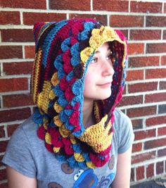 Hobbit Hood in crocodile/dragon by SeekingProvidence, $55.00