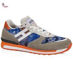 Baskets Hogan sneakers homme en daim et tissu gris - Code modèle: HXM2610R6708TZ2BA2 - Taille: 40 EU / 6 UK - Chaussures hogan (*Partner-Link)