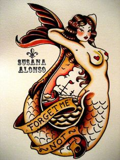 Susana Alonsos artwork encompasses pin-ups, sexy burlesque style ladies, and tattoo themes - which is no surprise! Contrary to most in the tattoo trade, Alonso started her career tattooing before movi