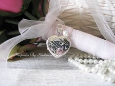 Sterling Silver Bridal Bouquet Locket  by Keepsakes By Katherine,