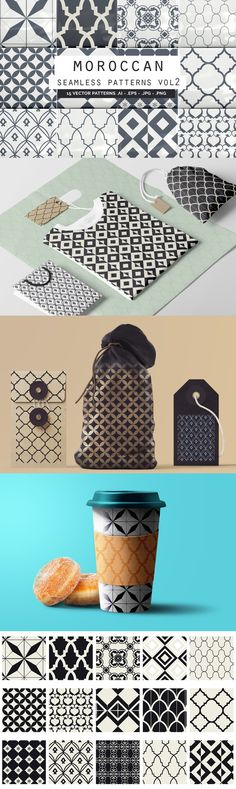 Moroccan Seamless Patterns vol2 - A great set of 15 Moroccan Style Seamless Vector Patterns!