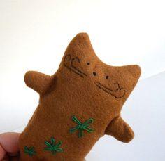 Gingerbread cat plush    brown kitty cat  doll by ElenasLoom, €14.00