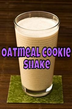 oatmeal cookie protein shakeinstead of skim milk i used almond milk it is the best shake ive had yet click now for more. Juice Smoothie, Smoothie Drinks, Fruit Smoothies, Healthy Smoothies, Healthy Drinks, Smoothie Recipes, Herbalife Recipes, Herbalife Shake, Protein Powder Recipes