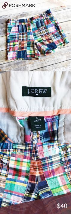 """J. Crew City Fit Multicolor Plaid Shorts  ★ Like new condition!  ★ These awesome multicolor plaid """"city fit"""" shorts from J. Crew are a style staple and must have for summer! Get them now!  ★ 100% Cotton. ★ NO TRADES!   ★ NO MODELING!  ★ YES REASONABLE OFFERS! ✅ ★ Measurements available by request and as soon as possible.  J. Crew Shorts"""