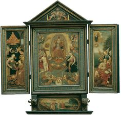 Süddeutscher Meister, TRIPTYCHON., 1603, Auktion 864 Alte Kunst, Lot 1190