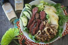 Asian Steak and Pear Salad