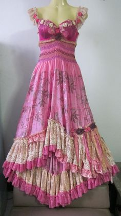 gypsy style vintage inspired bustier dress