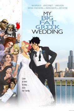 LOVE IT - percabeth - annabeth chase - percy jackson - my big fat greek wedding